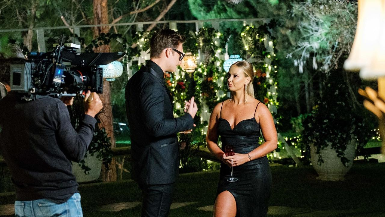 Bachelor contestant Rachel Arahill with Matt Agnew. Picture: Channel 10.