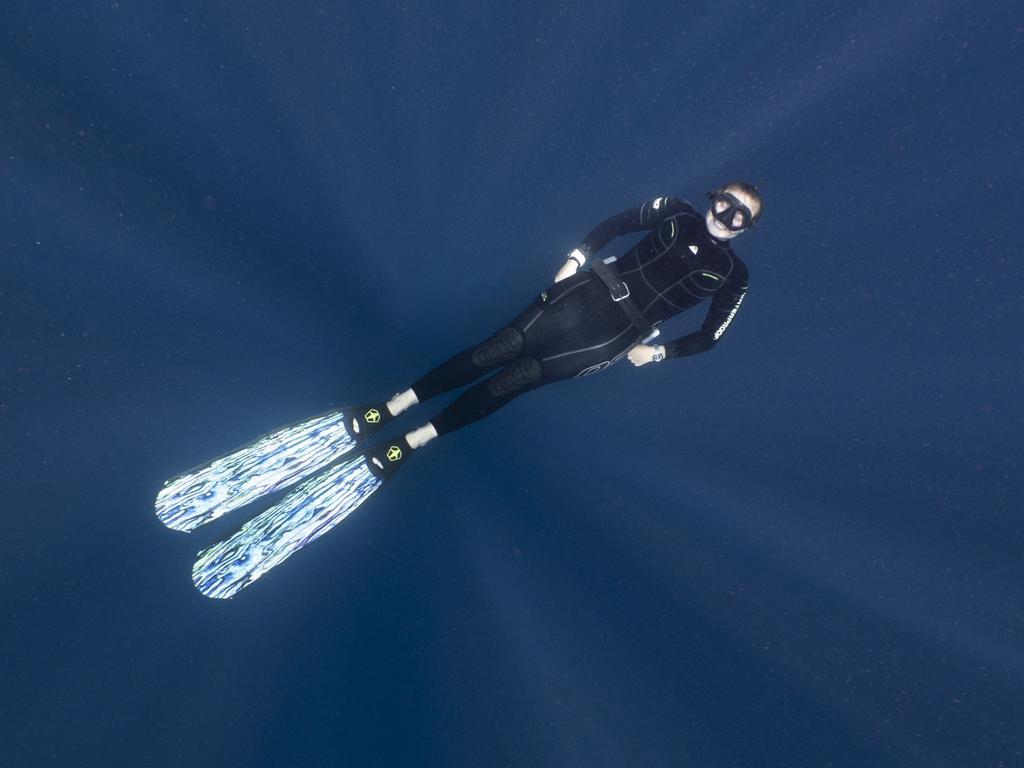 Olivia Johnson was the first Tasmanian to win the prestigious Rolex underwater scholarship.