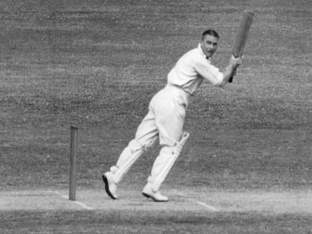 Vic Richardson at the crease.
