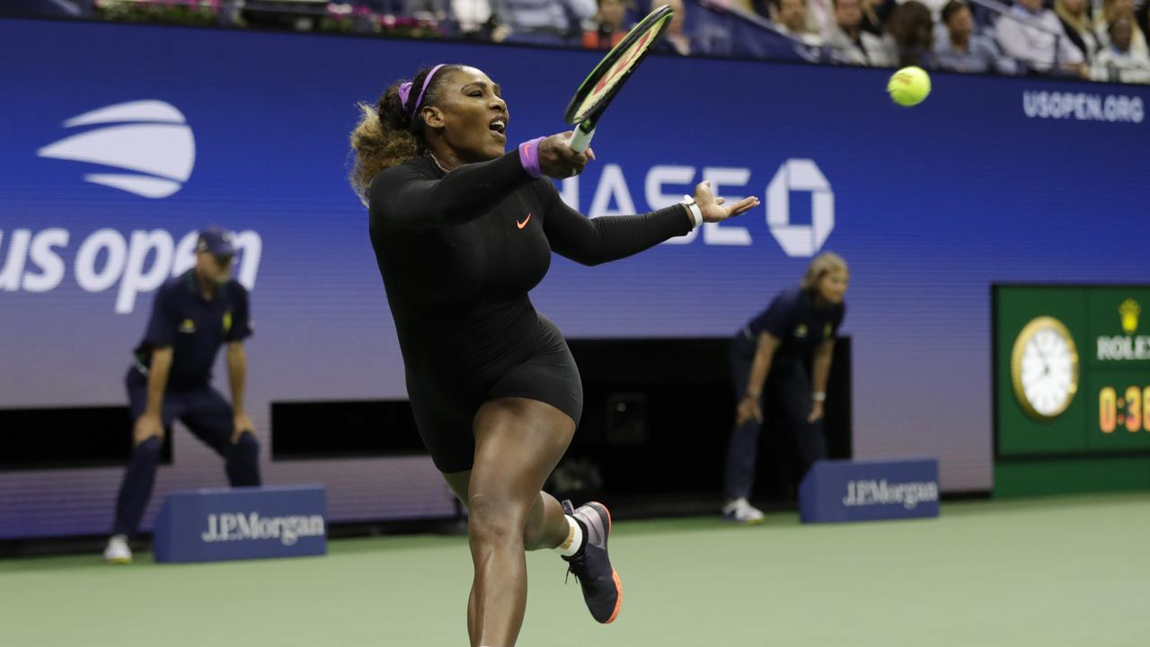 Serena Williams on her way to the US Open final. Picture: AP Photo/Adam Hunger