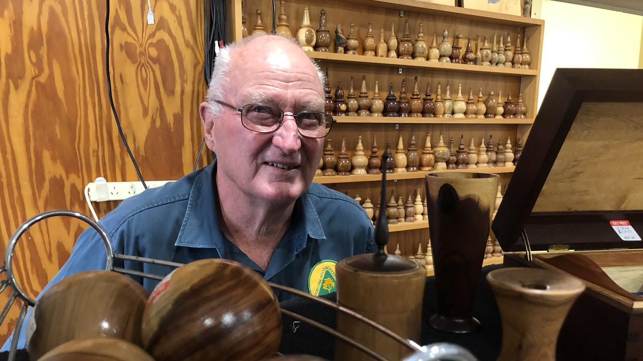 NATURAL TALENT: Alan Warner with some of his creations.