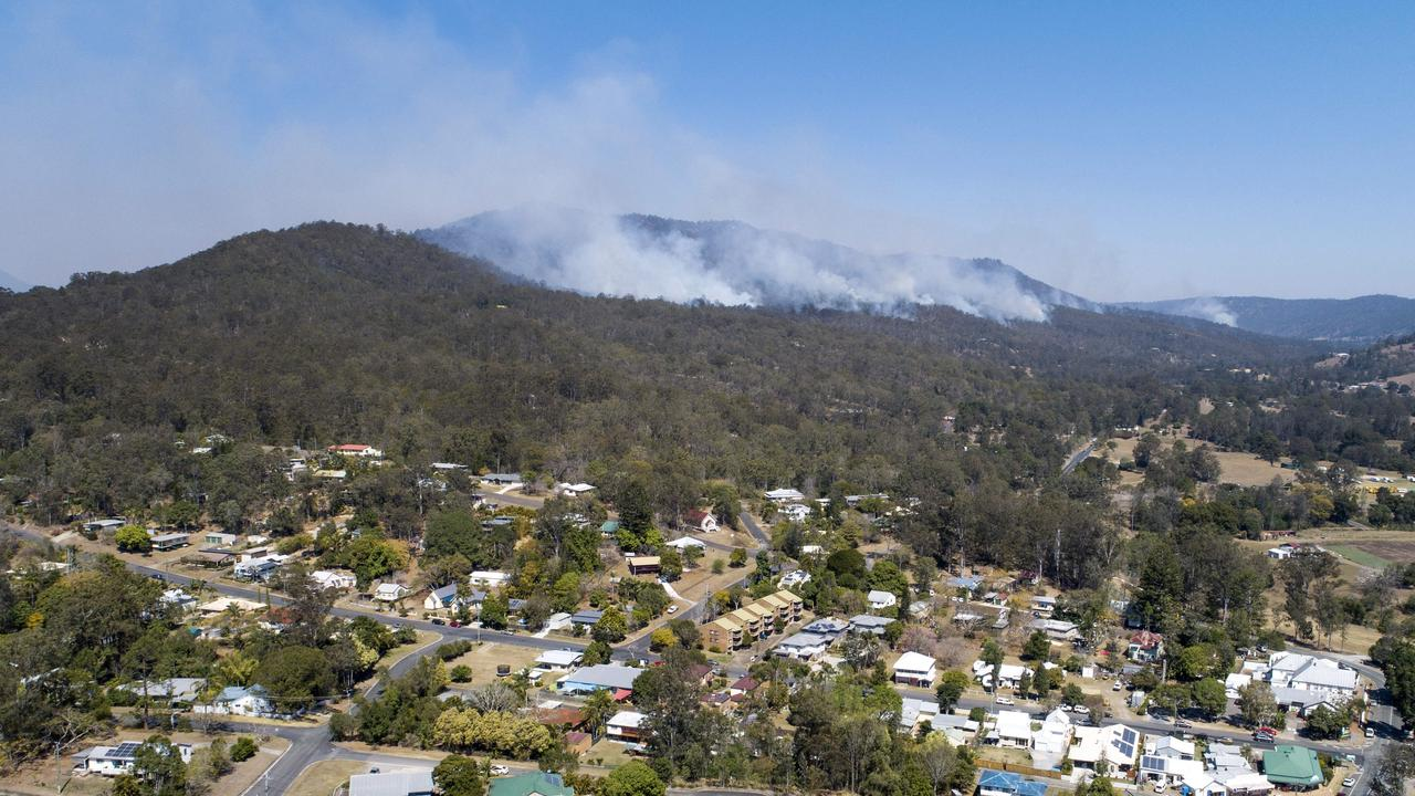Residents in the Canungra and Sarahba regions have been told to leave now. Picture: Niggel Hallett