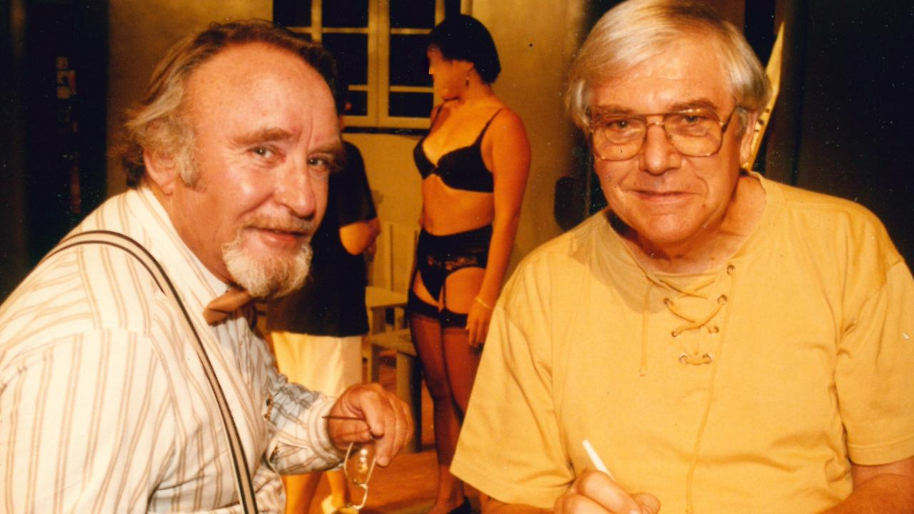 FLASHBACK: Ian Austin and John Burls, taken during the staging of The Holy Terror. Picture: Contributed