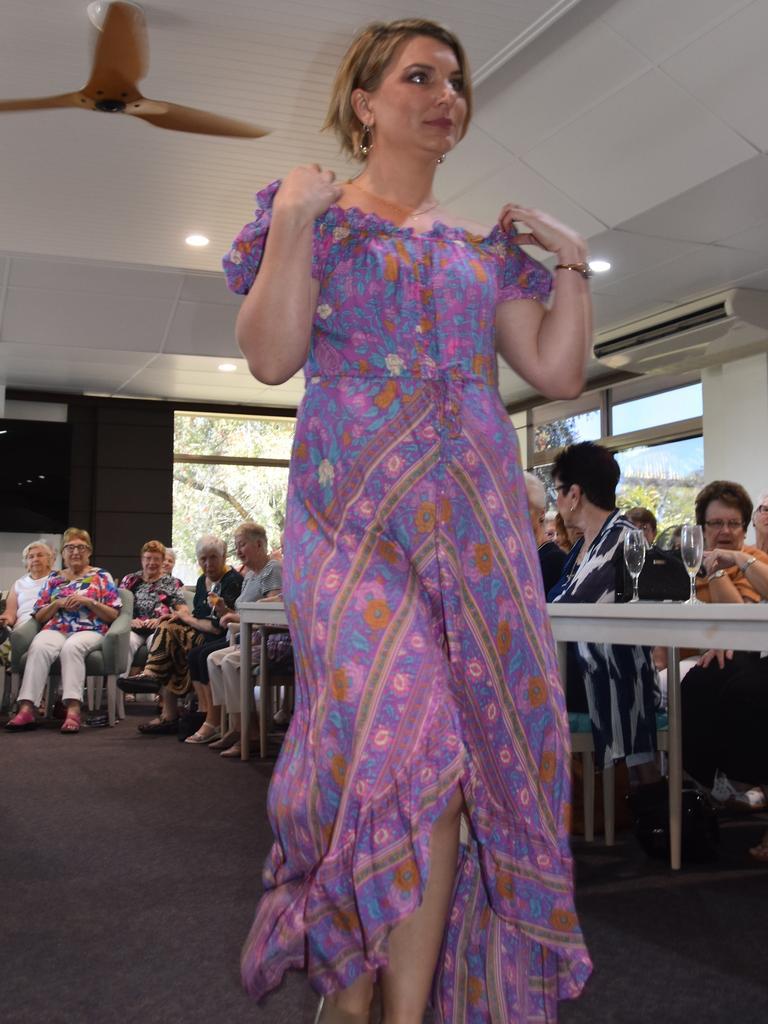 SPRING FASHION: Tara Evans at Cancer Council Queensland Noosa Branch's annual fashion fundraiser. Photo: Caitlin Zerafa