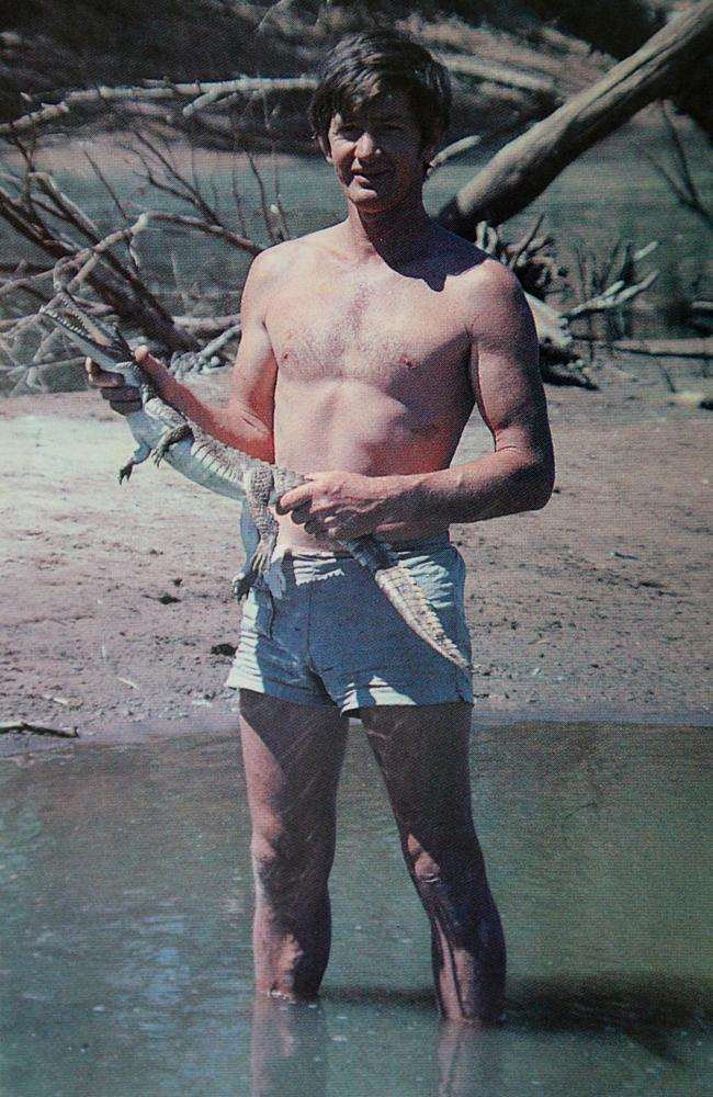 Bob Irwin on one of his earliest trips to Cape York, where he taught himself how to catch freshwater crocodiles. Picture: Courtesy Bob Irwin and Amanda French.