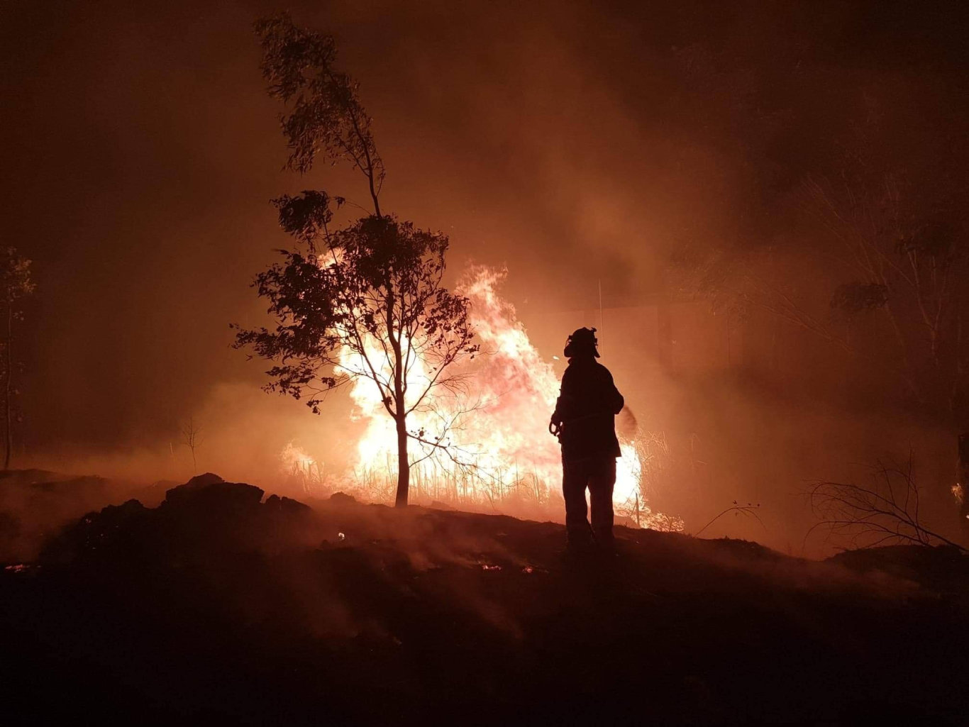 The Cambooya Rural Fire Service shared these images of the Stanthorpe Fire.