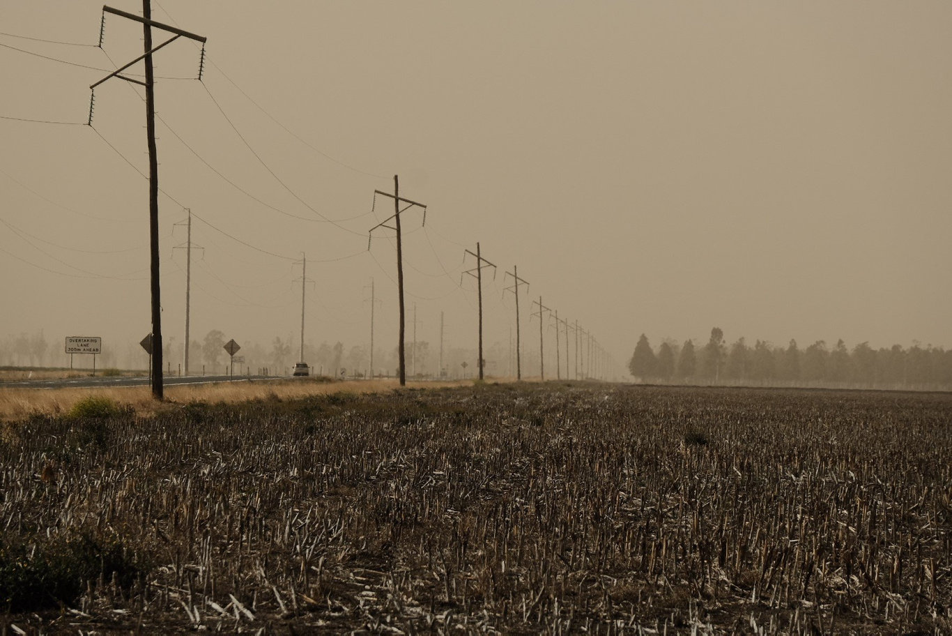 A cloud of dust is covering south west Queensland this morning as windy conditions continue.