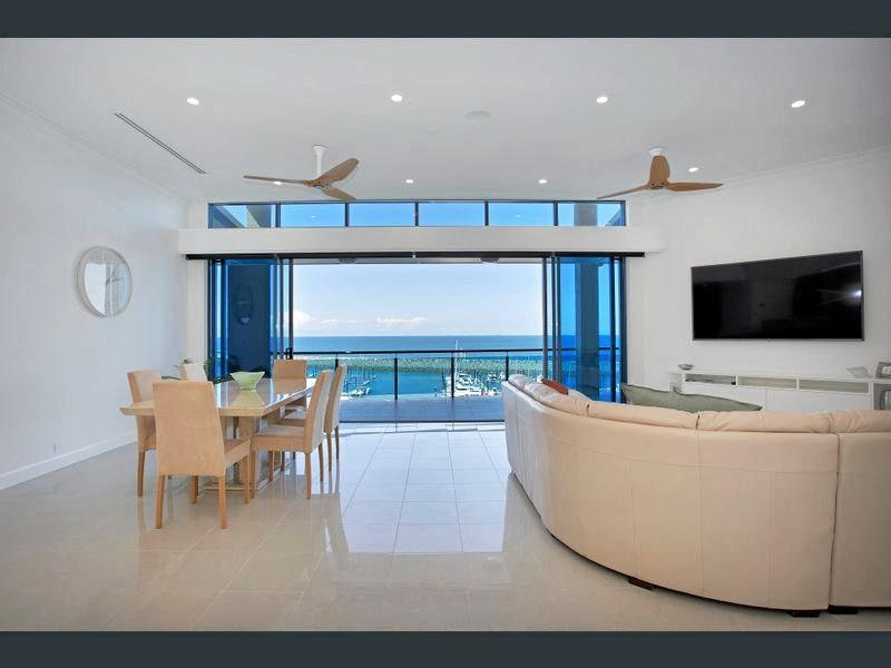 Enjoy marina views from this penthouse at 16/32 Mulherin Dr, Mackay Harbour.