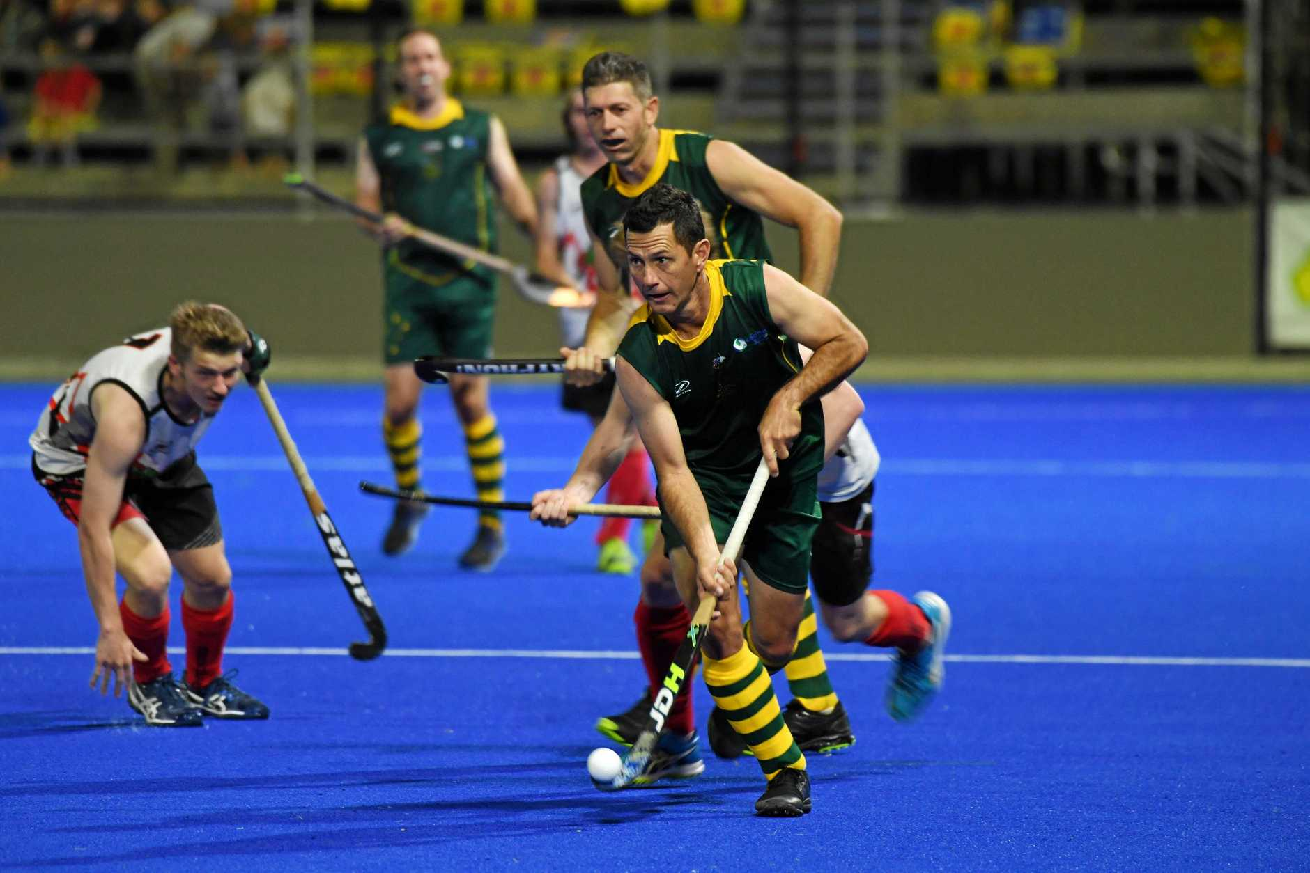 Rockhampton's hockey champion Jamie Dwyer in full flight.