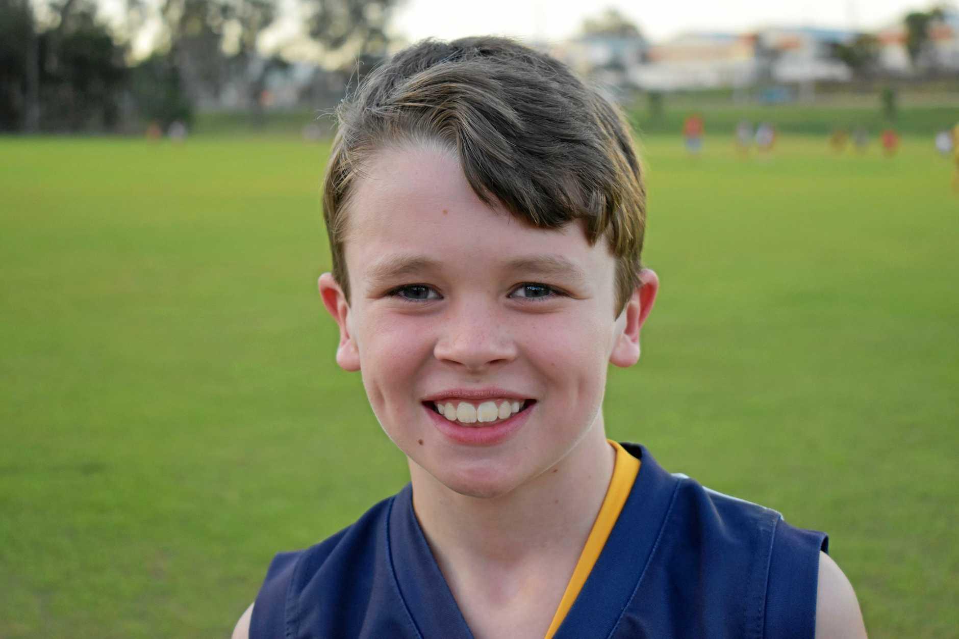 Gympie Cats under-12s - Elliott Nolan, wing.