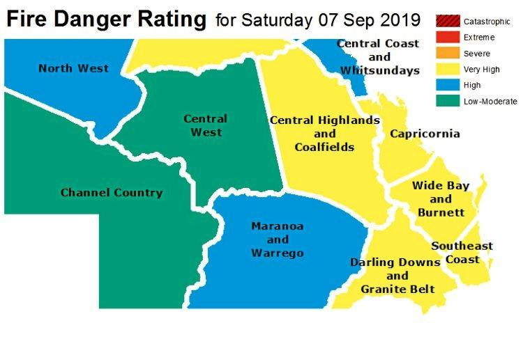 The Bureau of Meteorology daily Fire Danger Rating predicts an decreasing bushfire threat  today following an intense battle against fires  yesterday.
