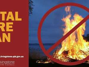 Fire ban extended across Toowoomba, Southern Downs