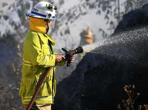 Firies give update on Glastonbury bush blaze