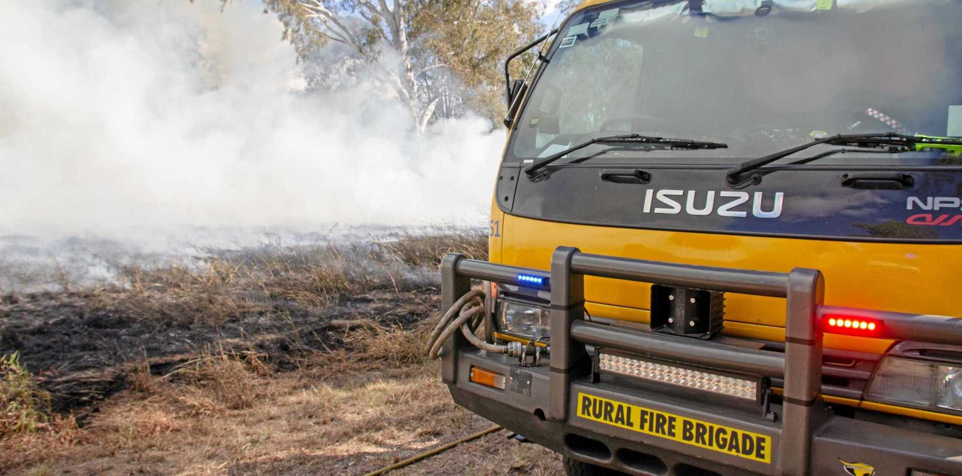 DANGER: Fire crews are battling a blaze in the Somerset region and are warning residents to stay alert.