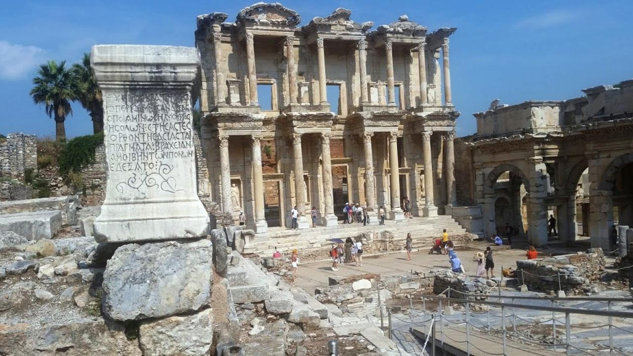 The ruins of an ancient library at Ephesus.