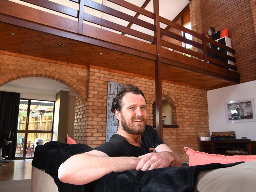 Jake Gash, 26, had to save for years and have help from his mum to buy on the Sunshine Coast.