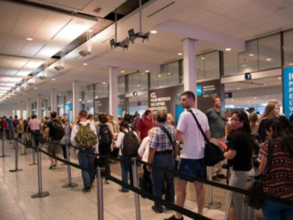 This all played out at the busy security checkpoint. Picture: iStock.