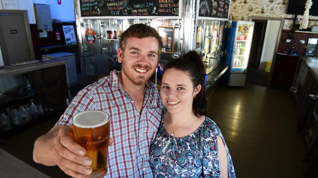 Hayden Rimmington and Emma Hurley are the new publicans at the Globe public bar North Bundaberg.