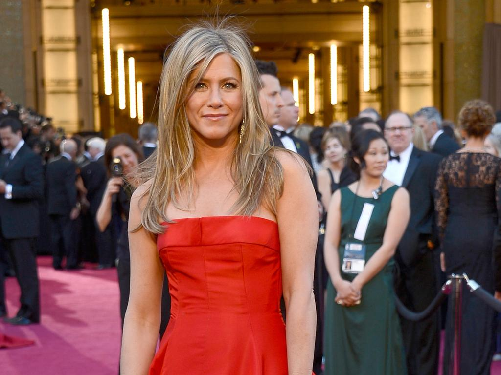 Jennifer Aniston, pictured at The Oscars in 2013, has been ridiculed over 'airbrushing' in her latest cover shoot. Picture: Getty