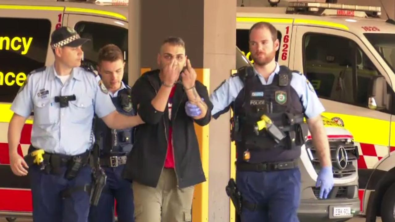 The driver of a car that hit a 12 year old boy in Hurstville, was arrested at the scene by officers from the St George Police Area Command and was taken to hospital for mandatory testing. Picture: 9 News