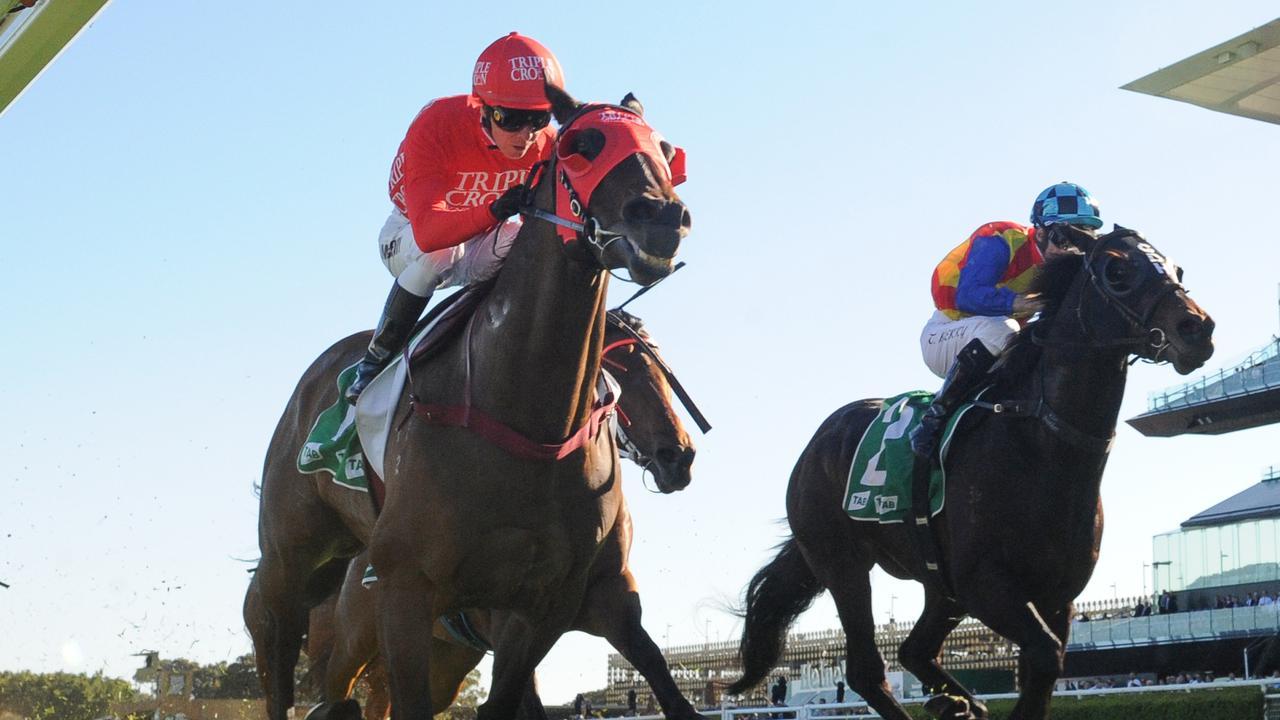 Jockey Kerrin McEvoy produced a cool ride on Redzel. Picture: AAP