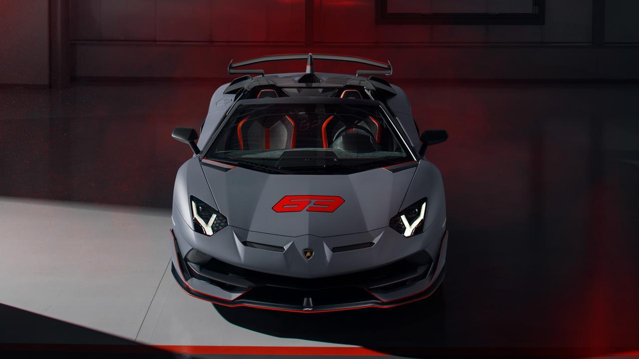 Another luxury car includes the Lamborghini Aventador SVJ 63 Roadster.