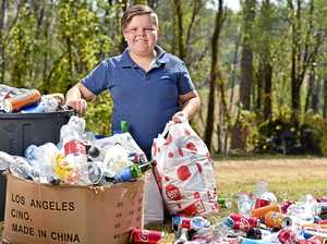 Young environmental hero inspiring others to clean up act