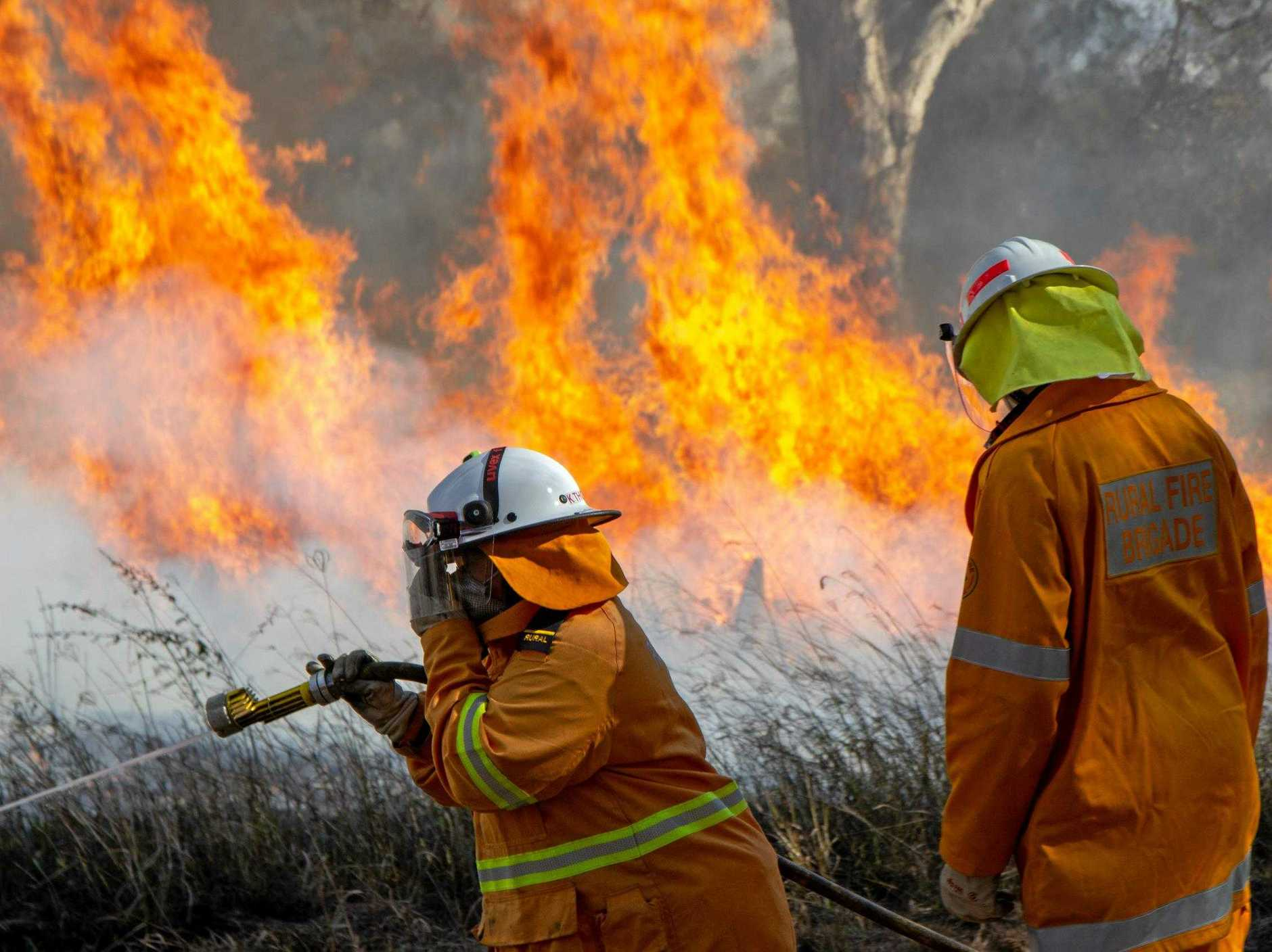 STAY ALERT: Fire fighters are warning residents need to keep up to date and decide what actions they will take if the situation changes.