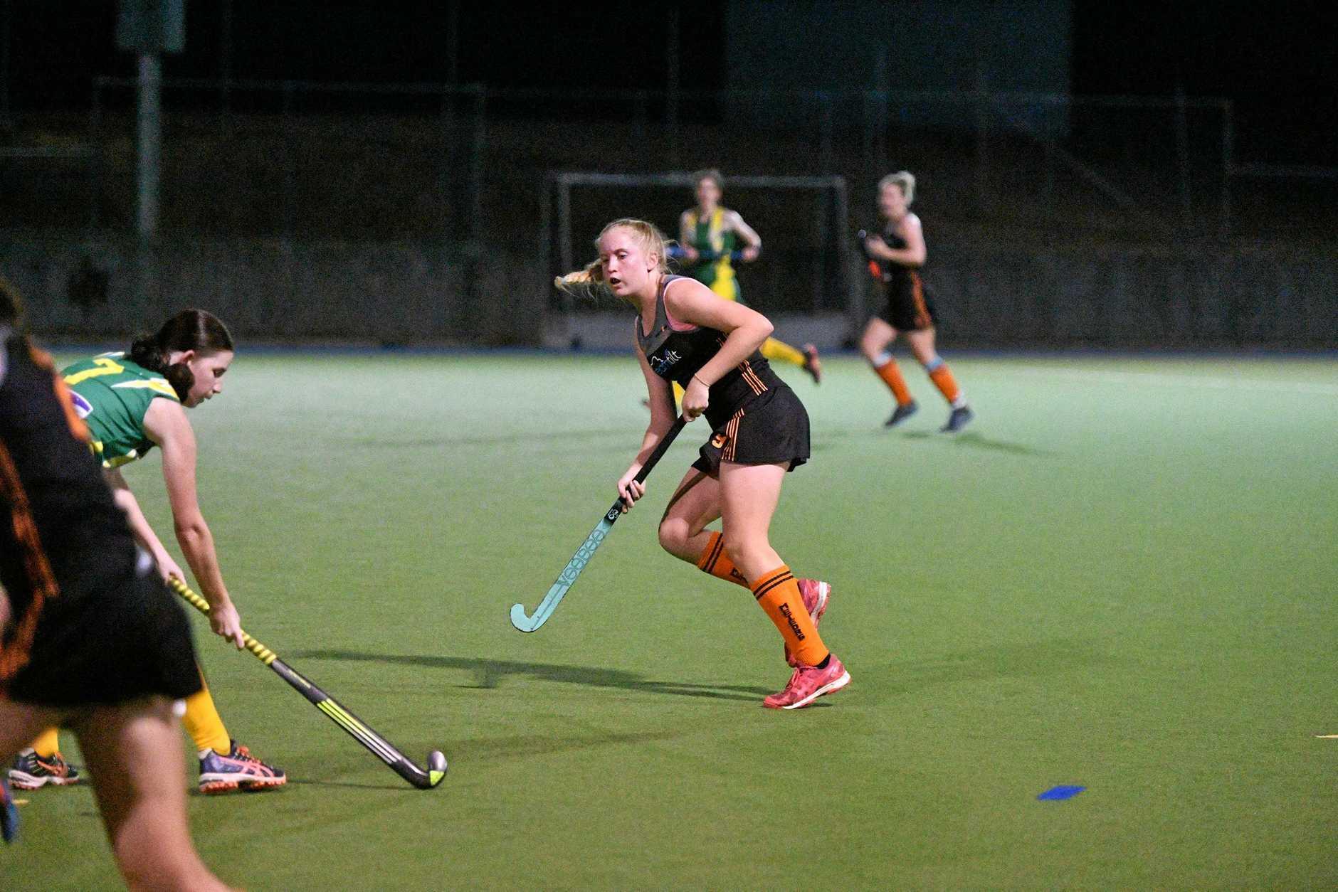 Meteors Anaya McCafferty in the A1 women's hockey grand final