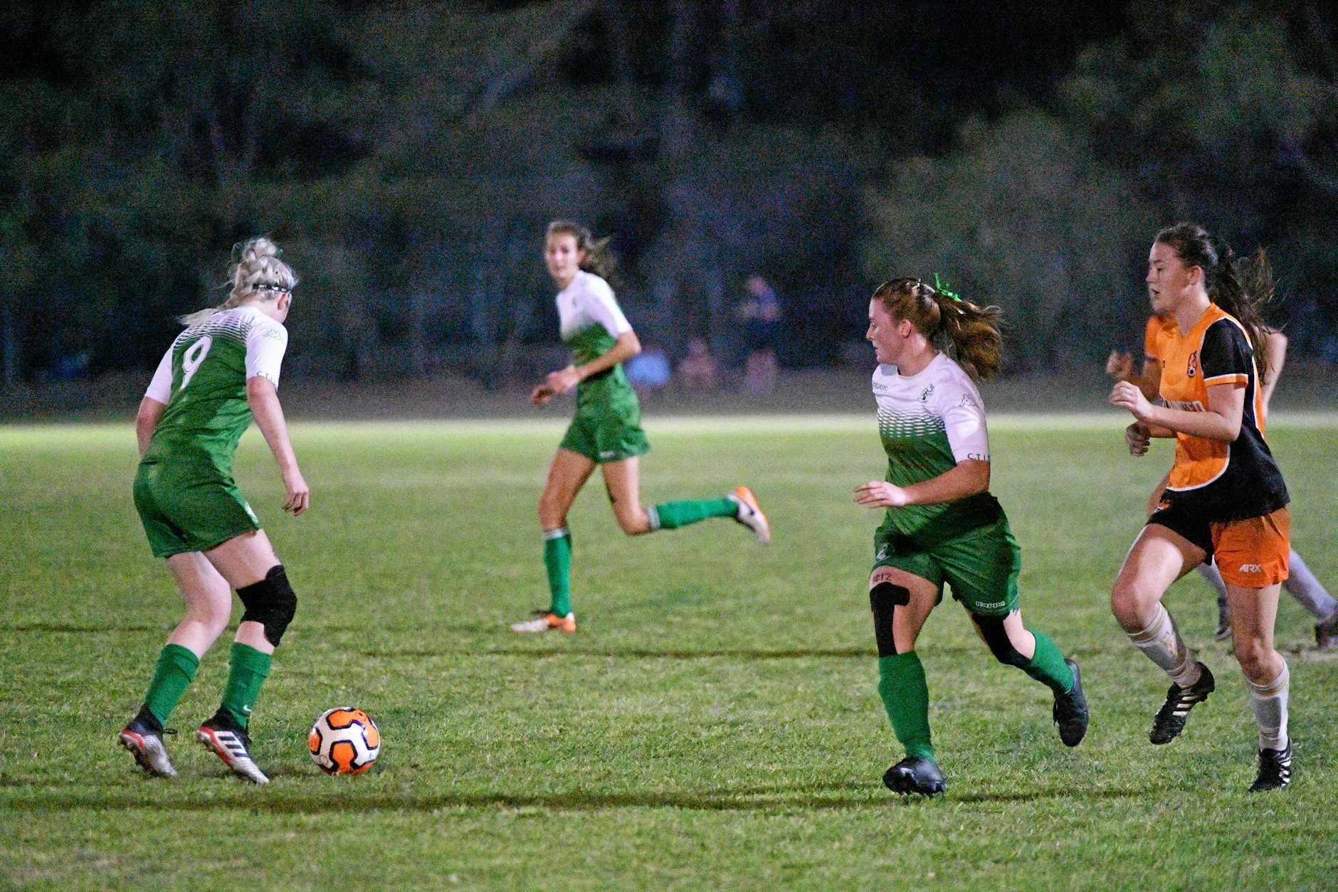 Clinton Skye Alexander, Isabeau Smith Meteors Danielle Fenwick in the Div. 1 women's soccer grand final