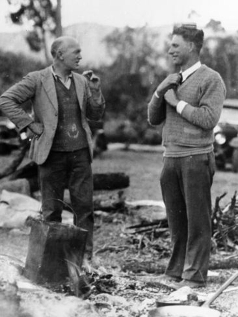 Binna Burra founders Arthur Groom And Romeo Lahey in 1938.