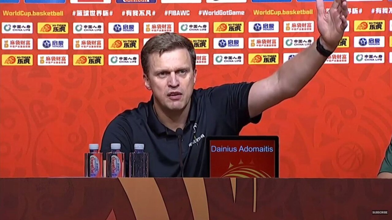 Lithuania coach blows up in press conference