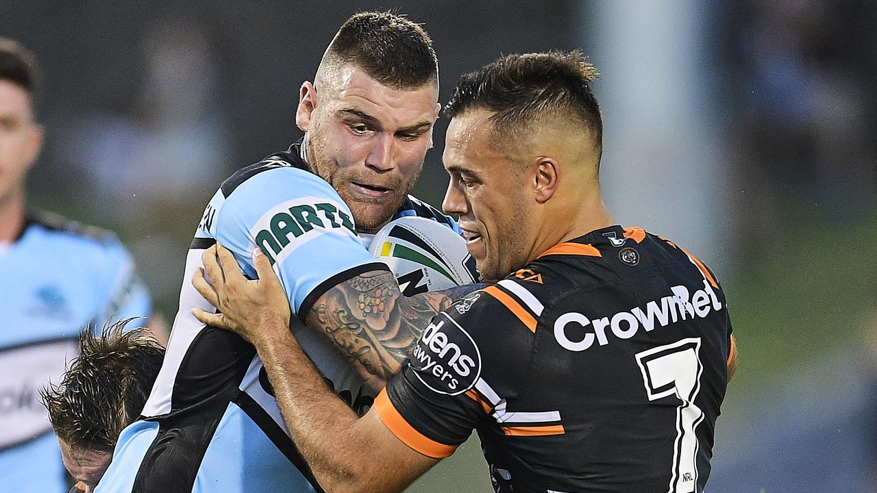 Josh Dugan and Luke Brooks will be lining up against one another at Leichhardt Oval. (Photo by Brett Hemmings/Getty Images)