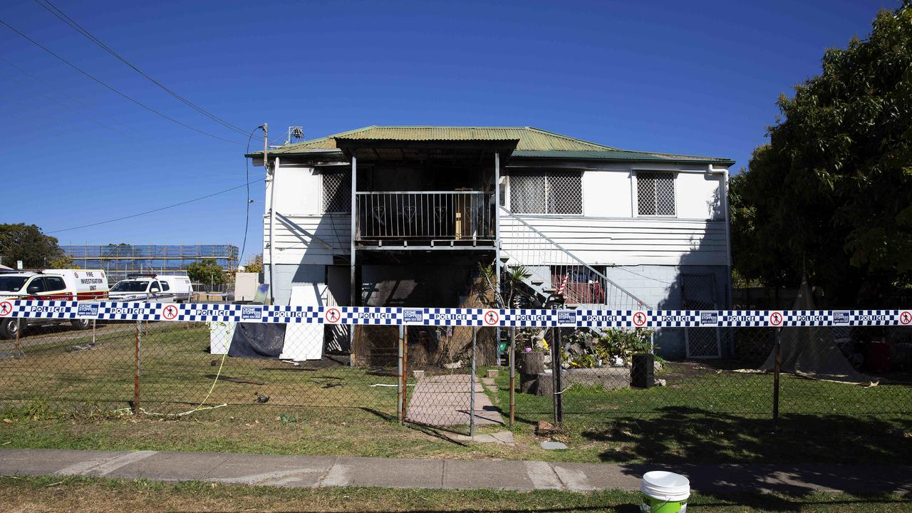 A Darra house has been damaged by fire. Arson is suspected. Picture: AAP Image/Attila Csaszar)