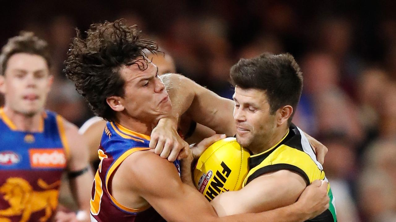 Captain Trent Cotchin encouraged his teammates to enjoy the finals opportunity. Picture: Michael Willson.