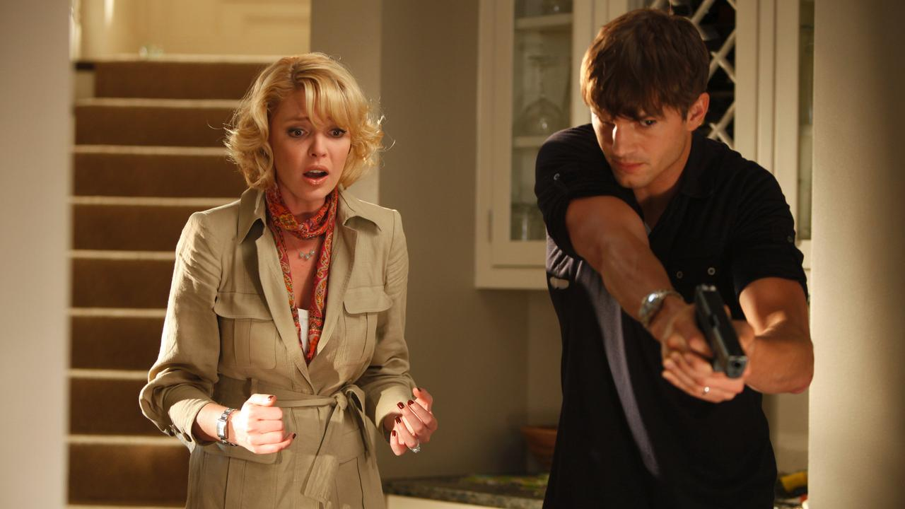 Heigl and Ashton Kutcher in a scene from the film 'Killers'.