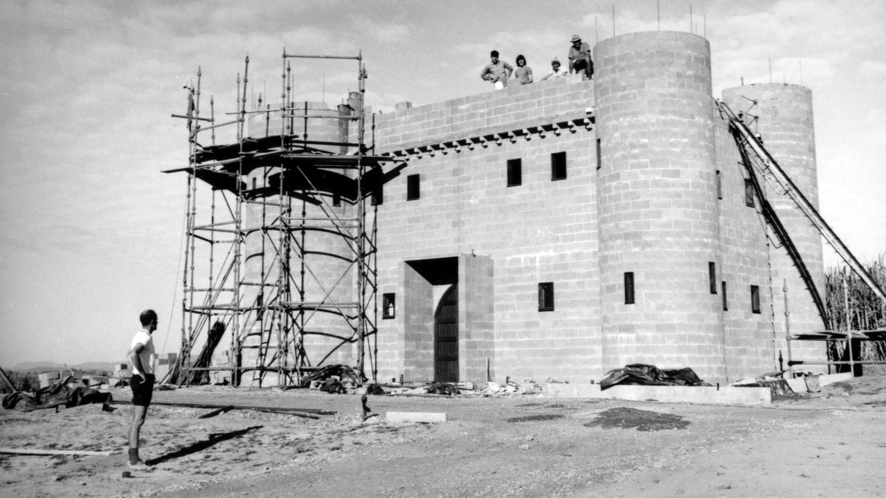 Fairytale Castle under construction on the David Low Way, Bli Bli in 1972.