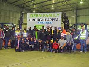 GENEROUS CONTRIBUTION: Members of Muslim Aid