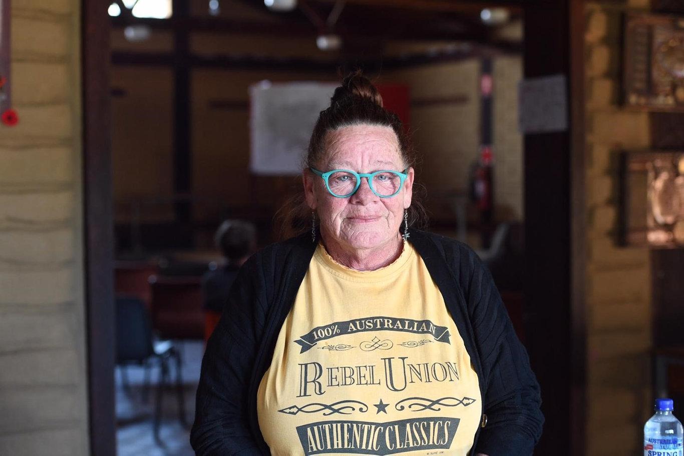 Deb Keep, of Drake, at a bushfire community meeting.