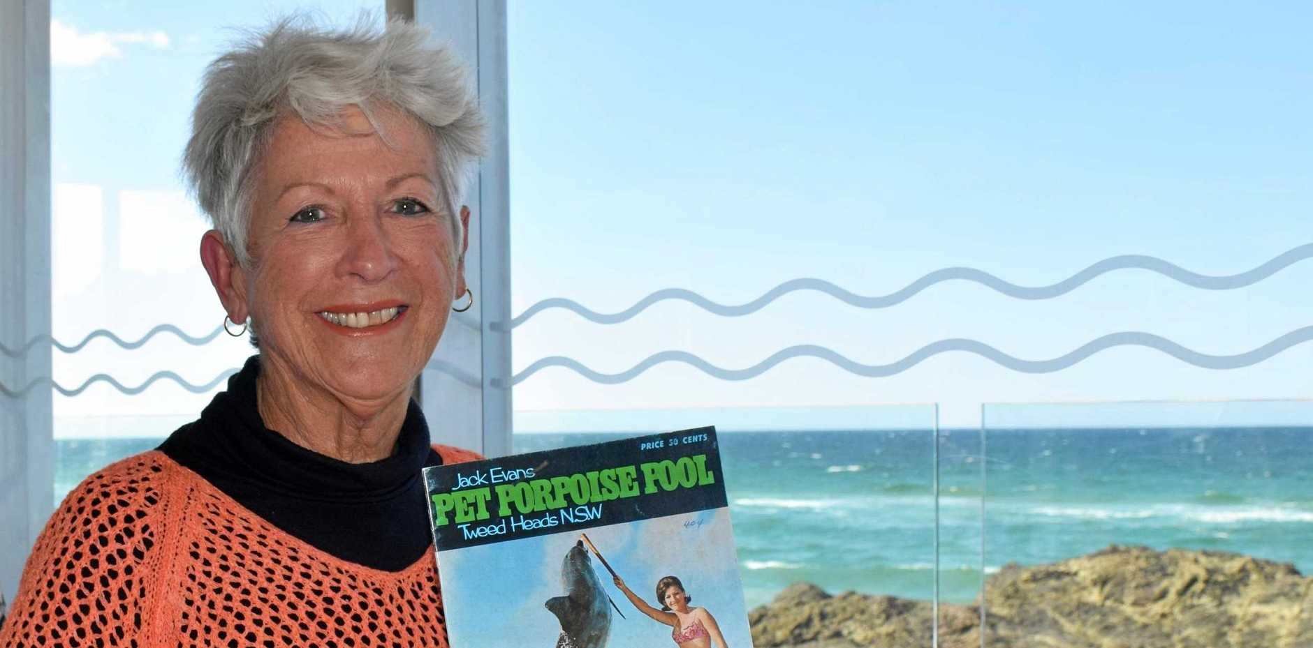 FAMILY LEGACY: Toni Cameron was the first female in Australia to work with dolphins and fondly remembers the heyday of her father Jack Evans' Pet Porpoise Pool, a tourism game-changer  in the 1960s and '70s.