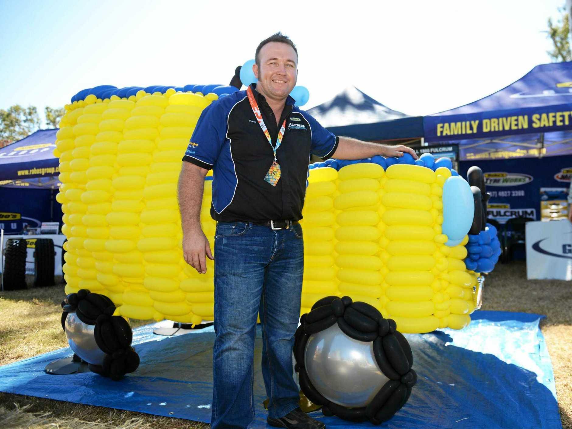 CQ mega Lifestyle Expo. Managing director at Robbos group, Peter Robinson - Balloon car . Photo Allan Reinikka / The Morning Bulletin