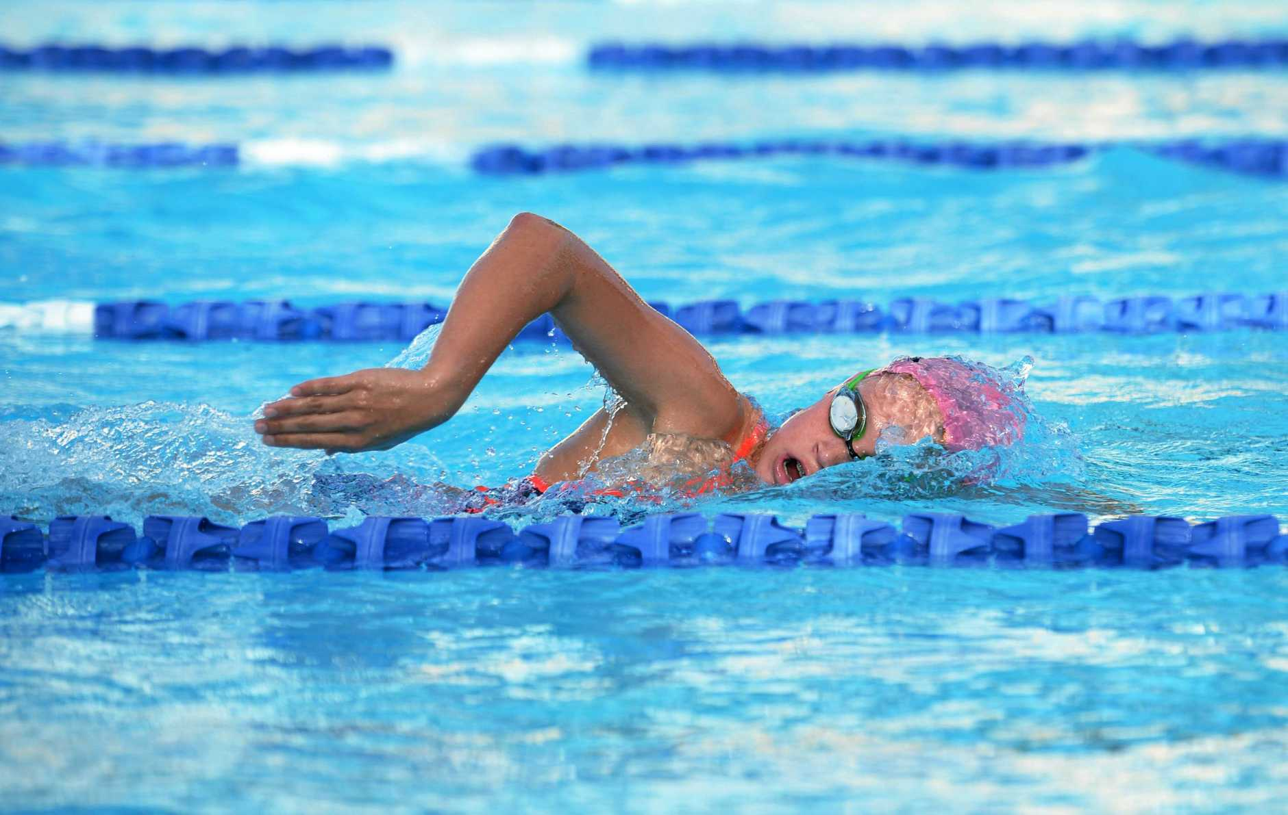 Taryn Roberts, 12, from the Rocky City Swimming Club swam well at the Emu Park Summer Skins Spectacular over the weekend in preparation for her first time swimming at the State Long Course event in Brisbane next week.