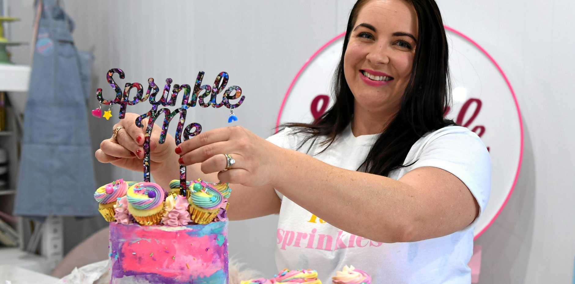 Tegan's style of baked goods are bright and colourful with a hint of sprinkles.