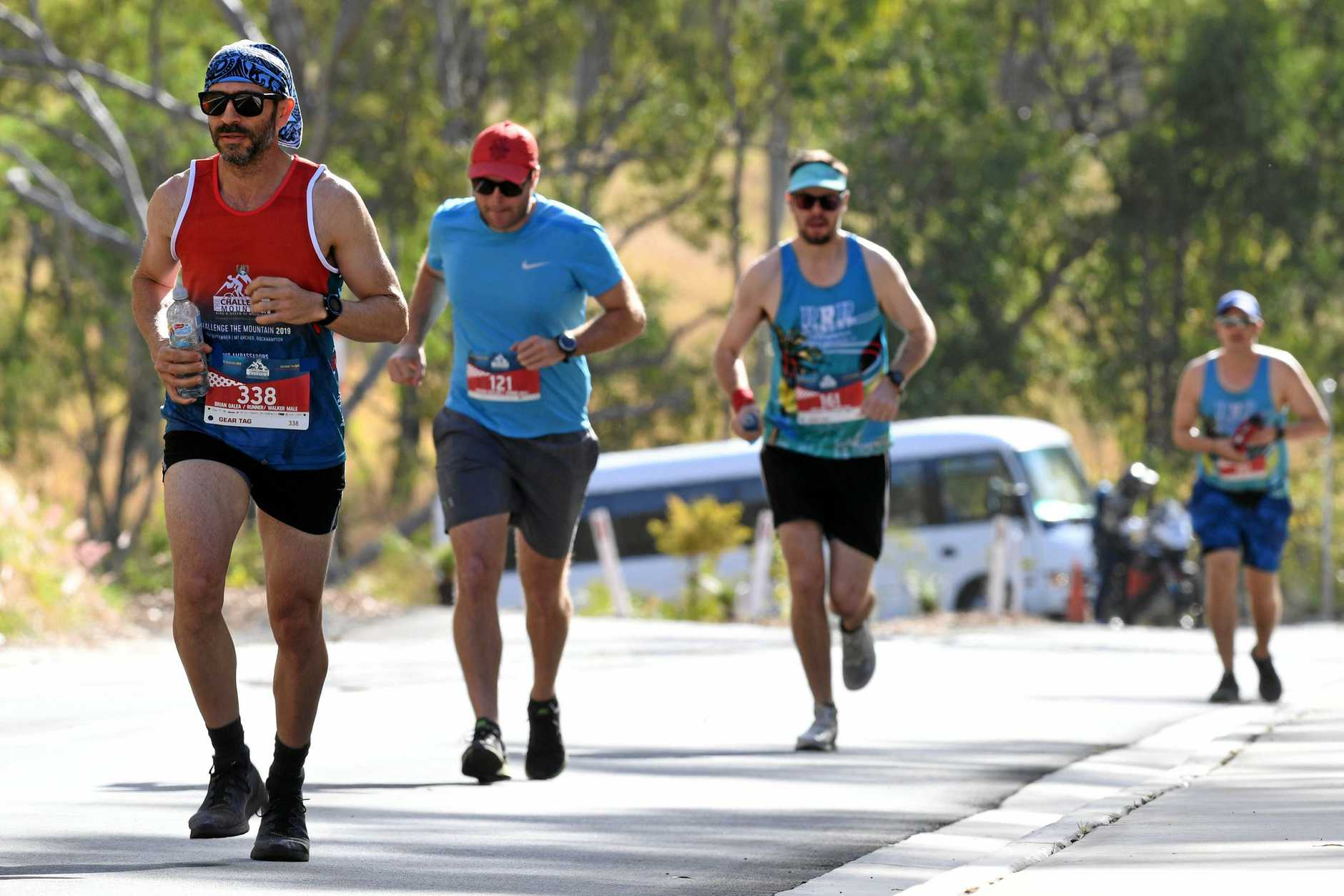 CHALLENGE THE MOUNTAIN: no 338 Brian Galea in front