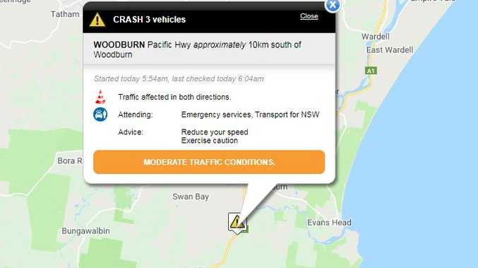Multi-vehicle crash on Pacific Hwy