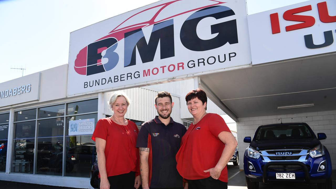 General manager Jacqui Morrison-White, first year apprentice technician Beau Neilsen and HR manager Alison Norton.
