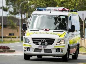 Man hospitalised after motorbike, car crash