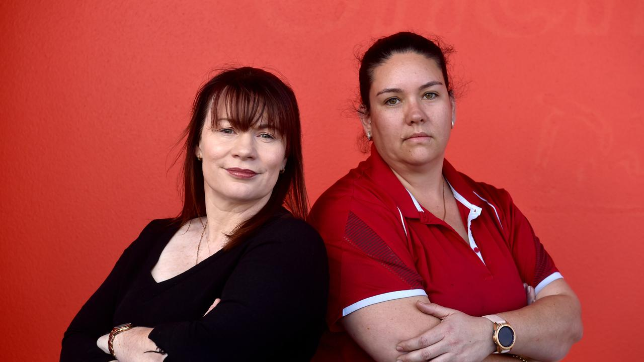 Nichole Doran and Melissa Gudge claim they were ripped off by a dodgy bond cleaner. Picture: Evan Morgan