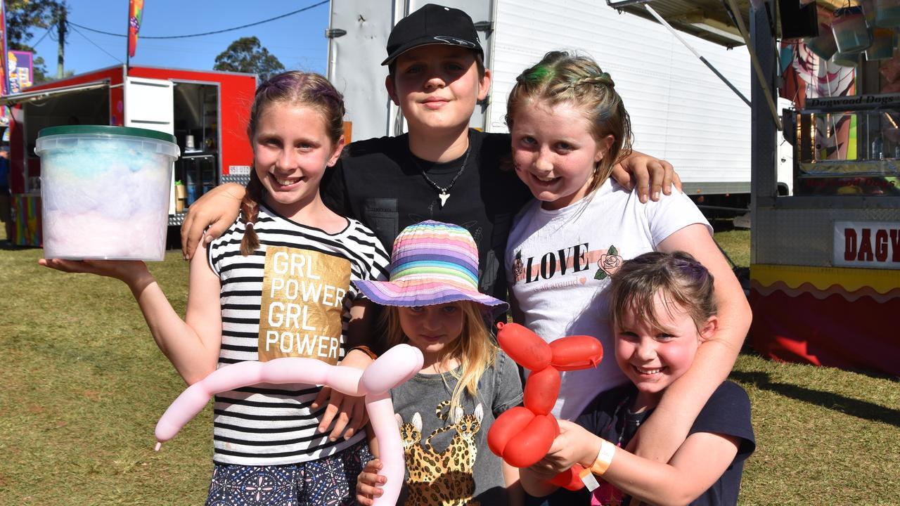 NOOSA SHOW 2019: (Back) Chloe Waklin, Fergus Brodie, Ellie Scott, (front) Harriet Brodie and Amelia McLaren. Photo: Caitlin Zerafa
