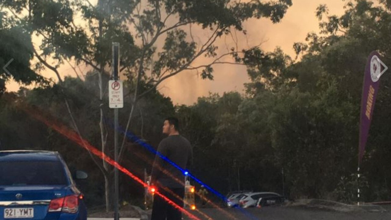 Fire authorities are warning Caloundra residents to be aware of a bushfire burning near Sugarbag Rd and Queen St, Caloundra, travelling in a north-easterly direction.